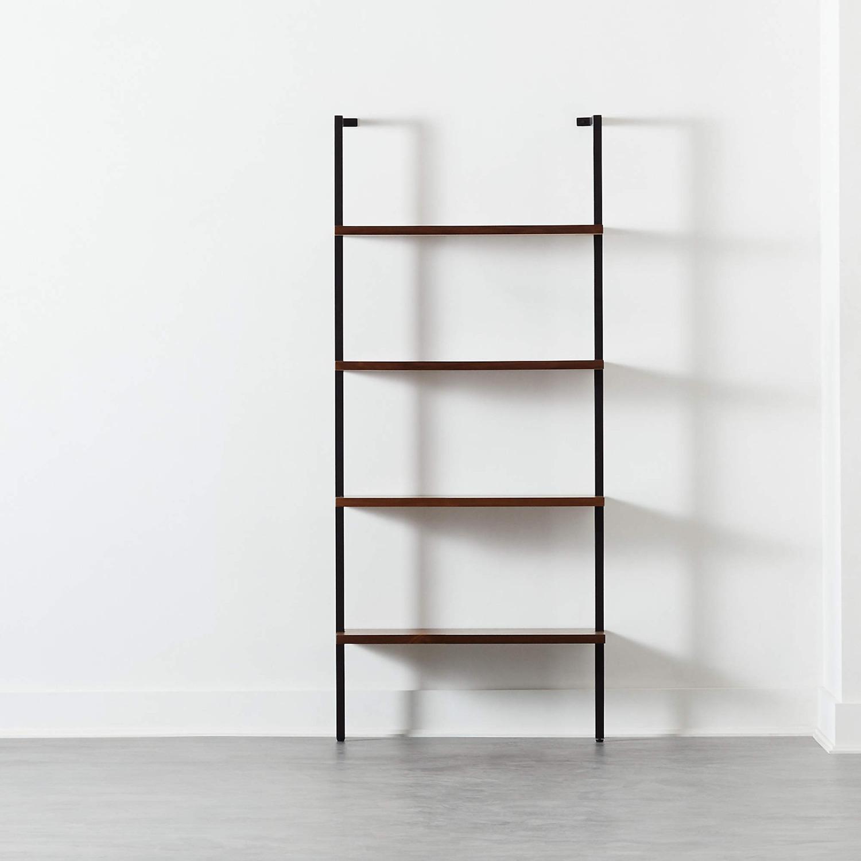 CB2 Hellix Walnut Bookcase - image-1