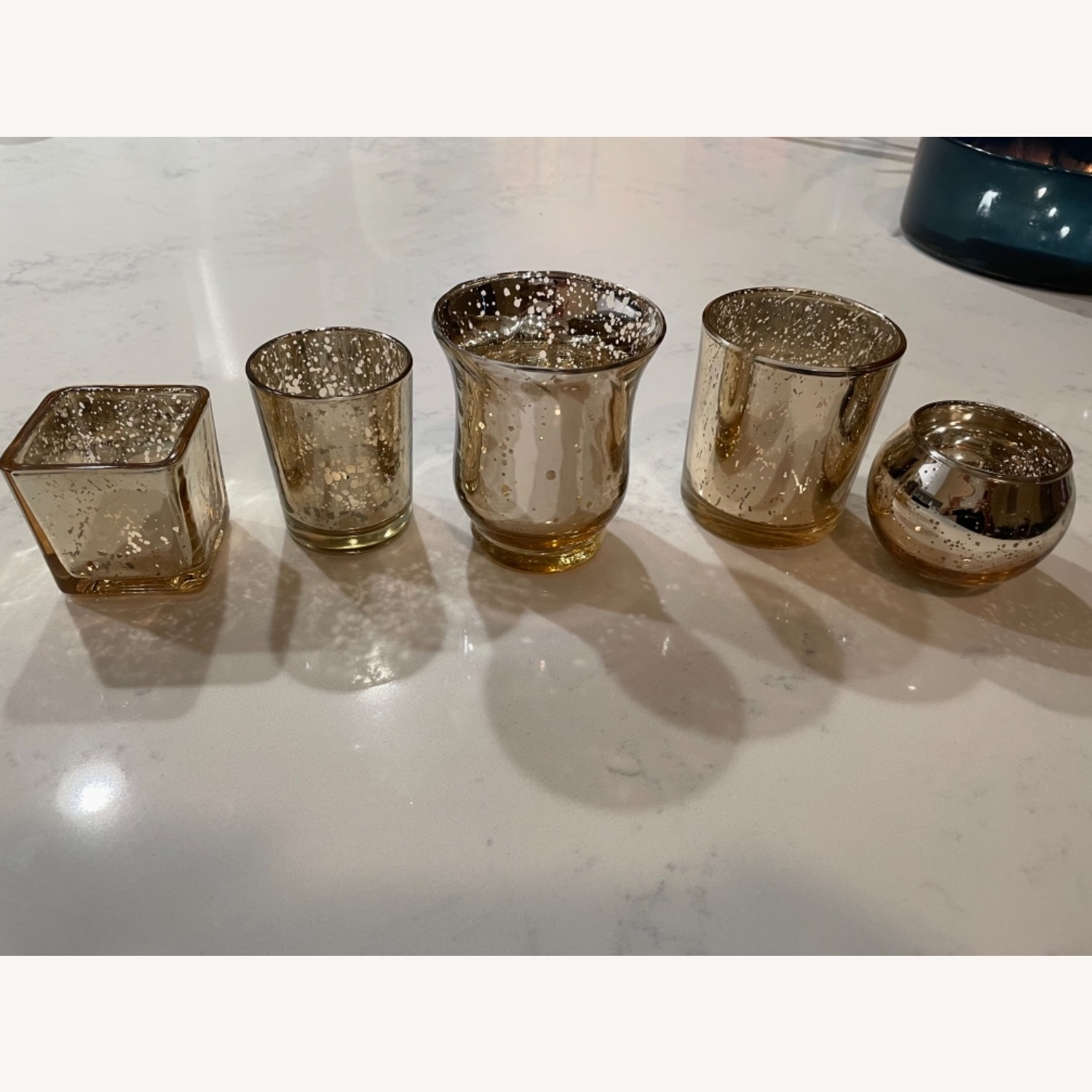 5 Piece Gold Candle Holder - image-3