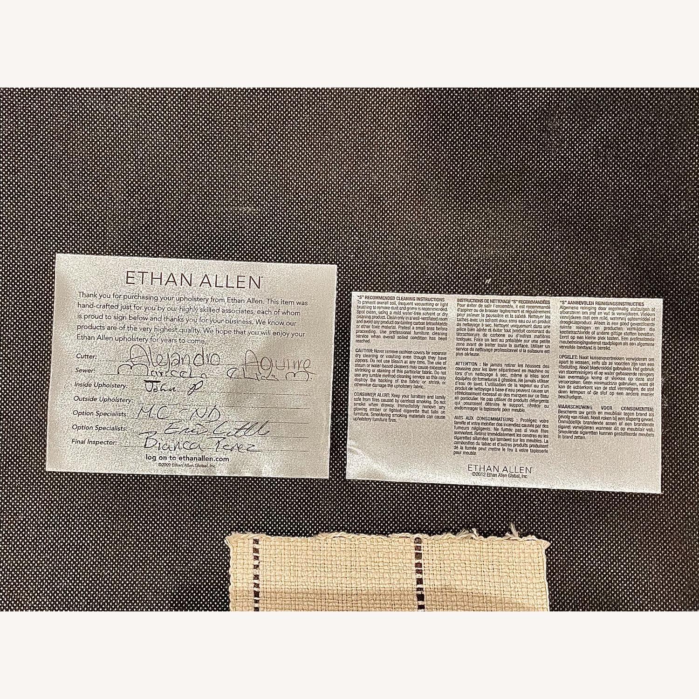 Ethan Allen Collin Ottoman Cream and Black - image-4