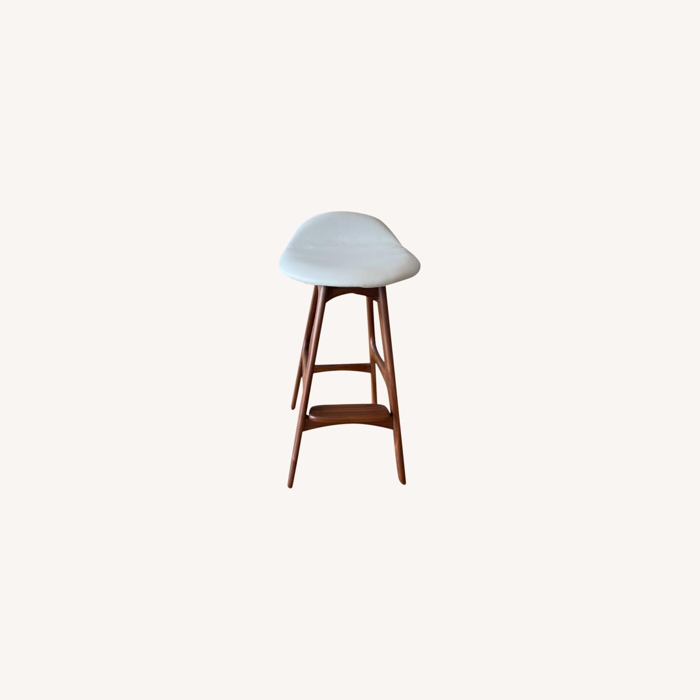 Organic Modernism White Saddle Stool Set - image-0