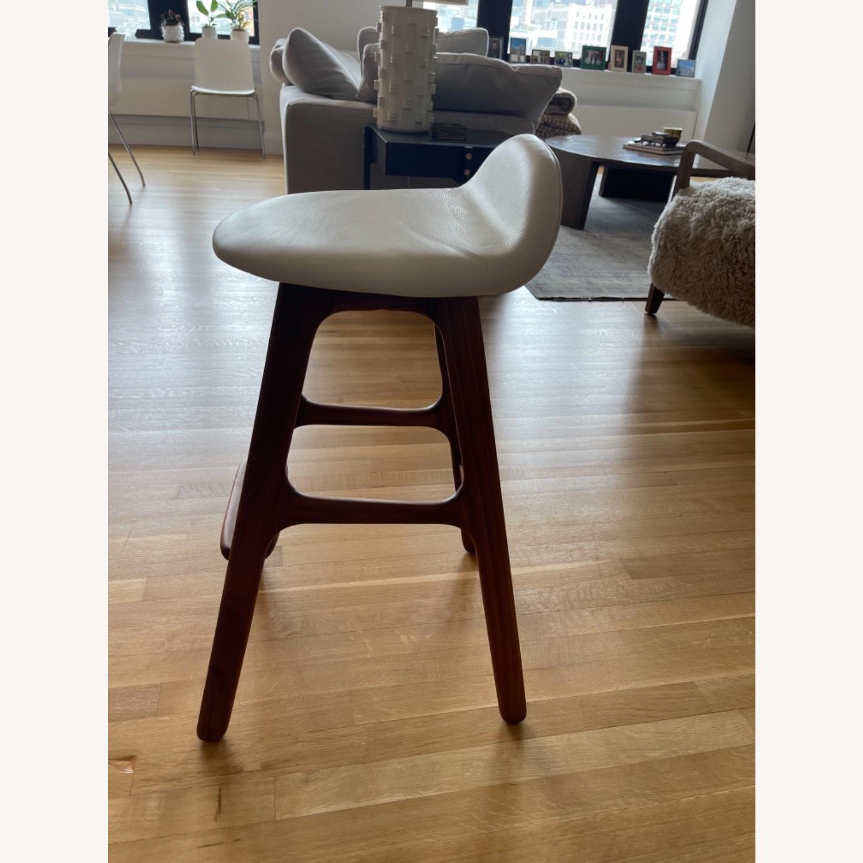 Organic Modernism White Saddle Stool Set - image-2
