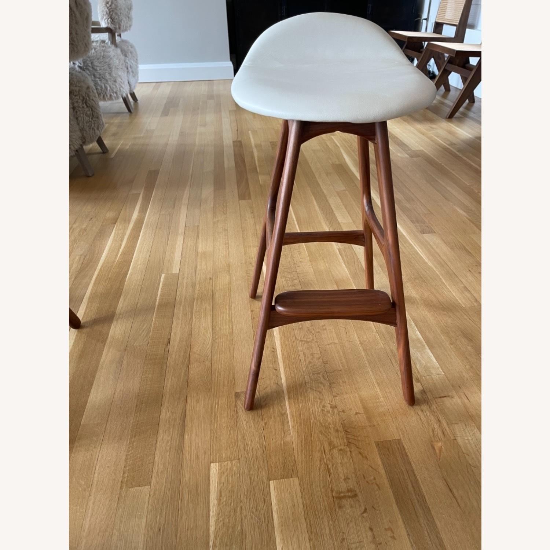 Organic Modernism White Saddle Stool Set - image-3