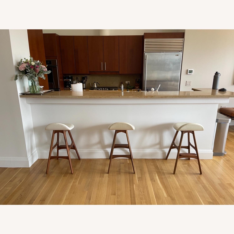 Organic Modernism White Saddle Stool Set - image-1