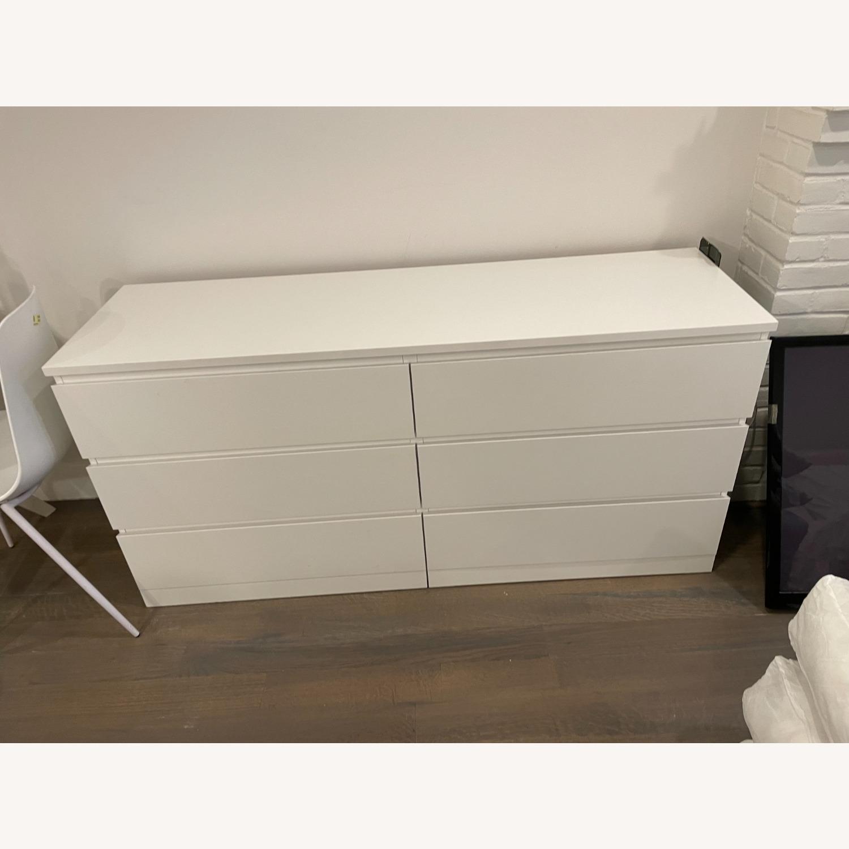 IKEA White 6 Drawer Dresser - image-1