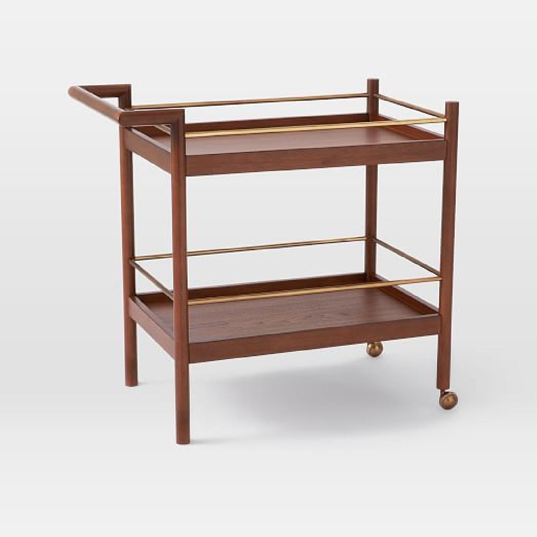 West Elm Mid-Century Bar Cart - image-0