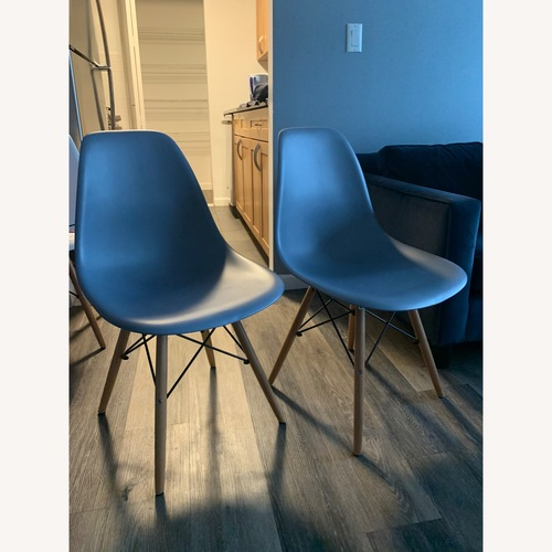 Used Eiffel Dining Room Chairs - Set of 2 (Gray) for sale on AptDeco