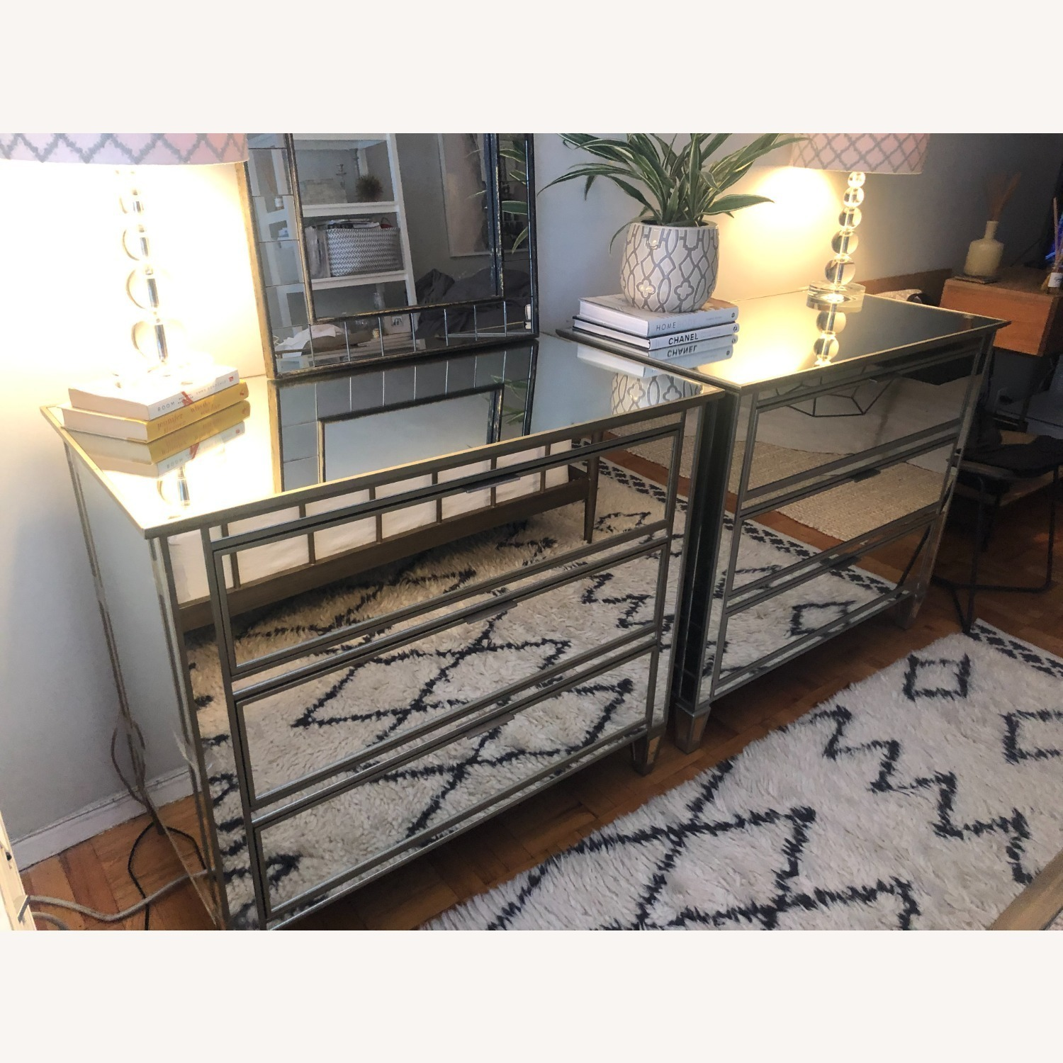 Pottery Barn Parker Mirrored Dressers - image-2