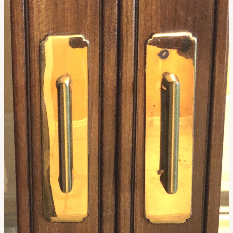 Vintage Ethan Allen Wood & Glass Cabinet, 5 Shelf - image-3