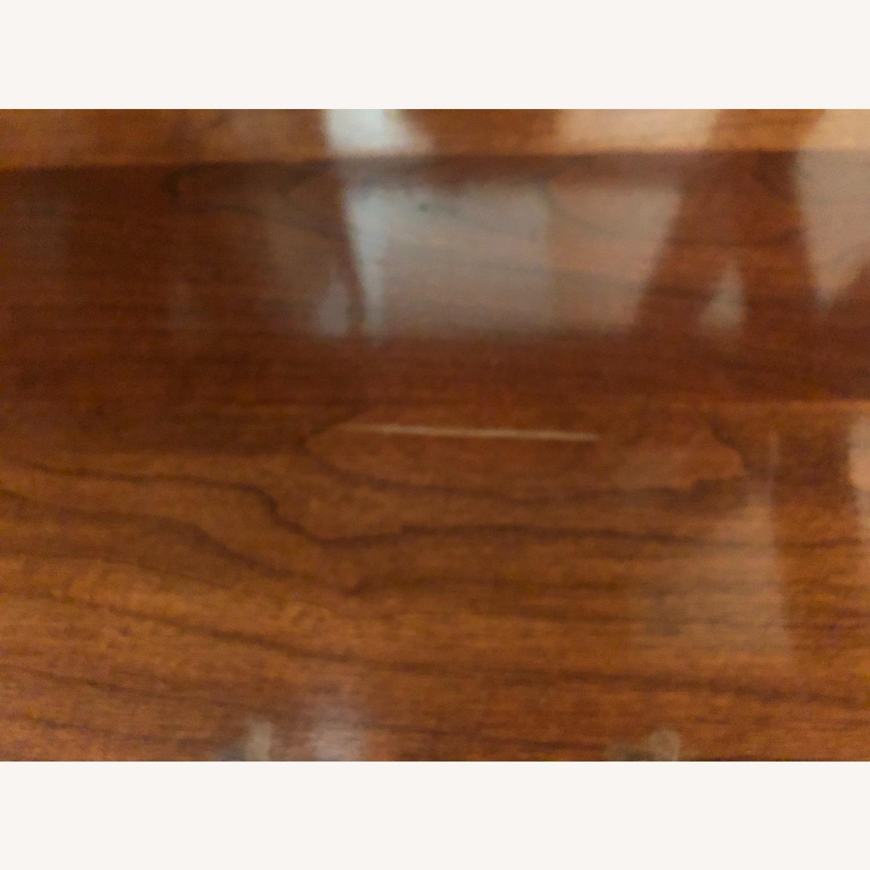 Vintage Ethan Allen Wood & Glass Cabinet, 5 Shelf - image-4