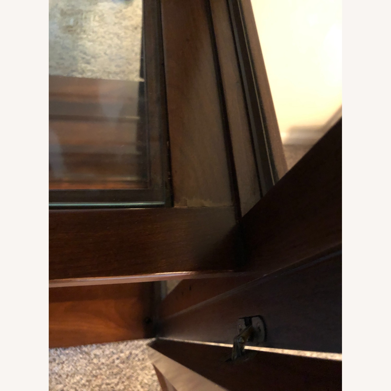 Vintage Ethan Allen Wood & Glass Cabinet, 5 Shelf - image-5