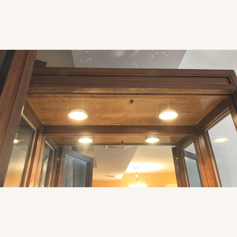 Vintage Ethan Allen Wood & Glass Cabinet, 5 Shelf - image-9