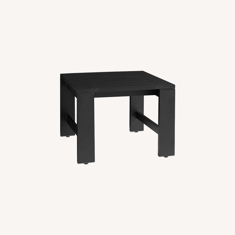 Pottery Barn Malibu Metal Side Table, Black - image-0