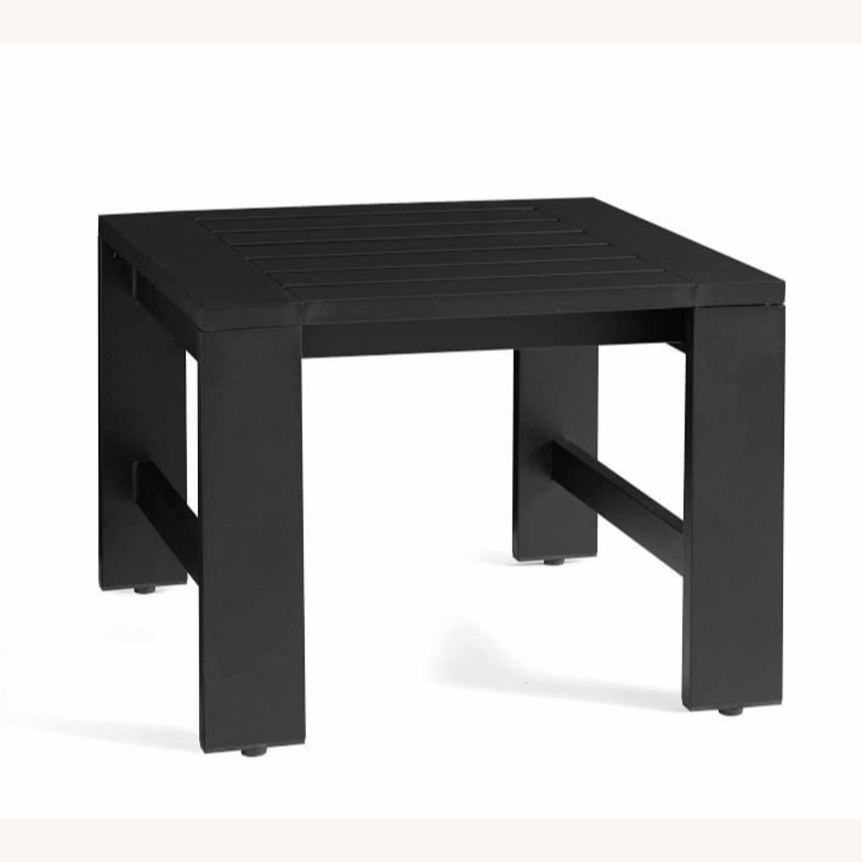 Pottery Barn Malibu Metal Side Table, Black - image-1
