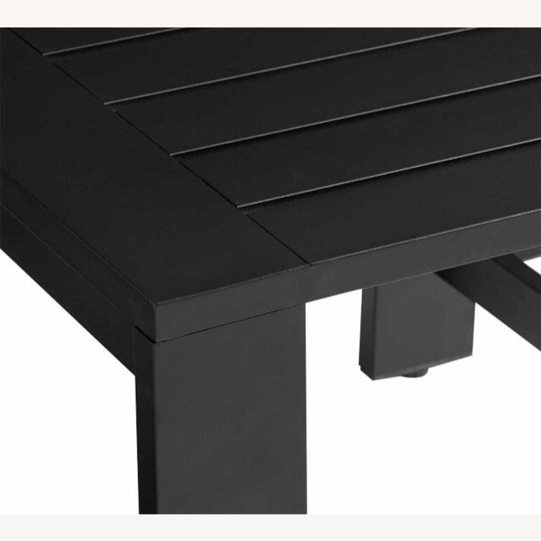 Pottery Barn Malibu Metal Side Table, Black - image-3
