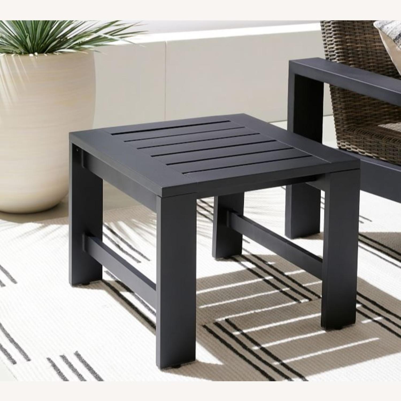 Pottery Barn Malibu Metal Side Table, Black - image-2