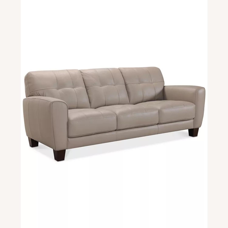 "Kaleb 84"" Tufted Leather Sofa - image-1"