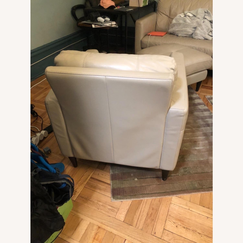 Kaleb Tufted Leather Furniture Armchair - image-3