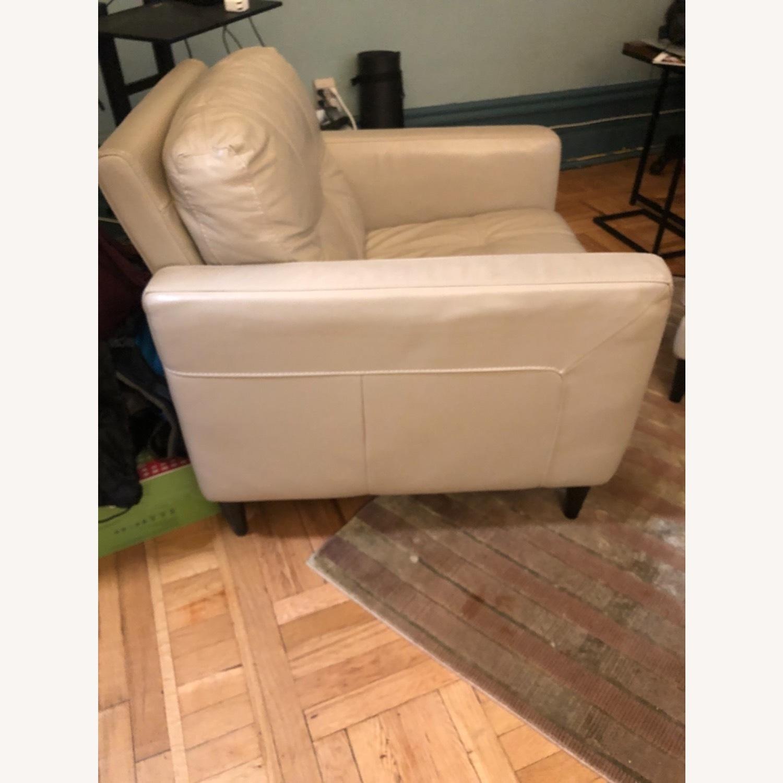 Kaleb Tufted Leather Furniture Armchair - image-2