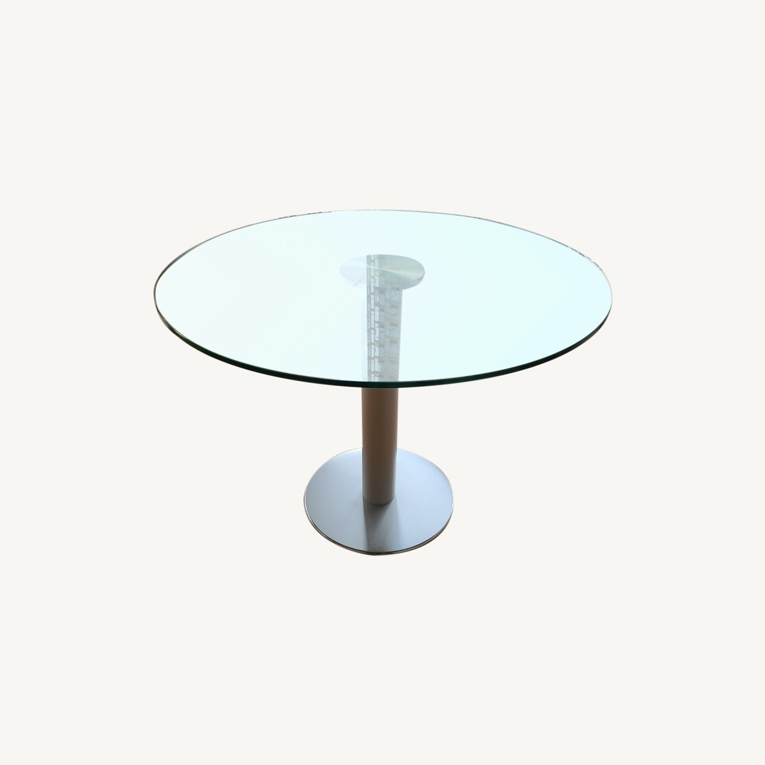 Design Within Reach Round Glass Table - image-0