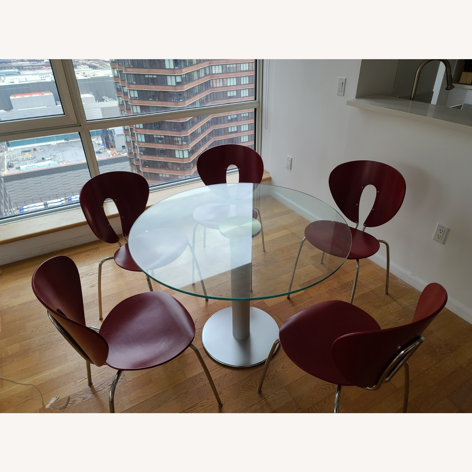 Design Within Reach Round Glass Table - image-3