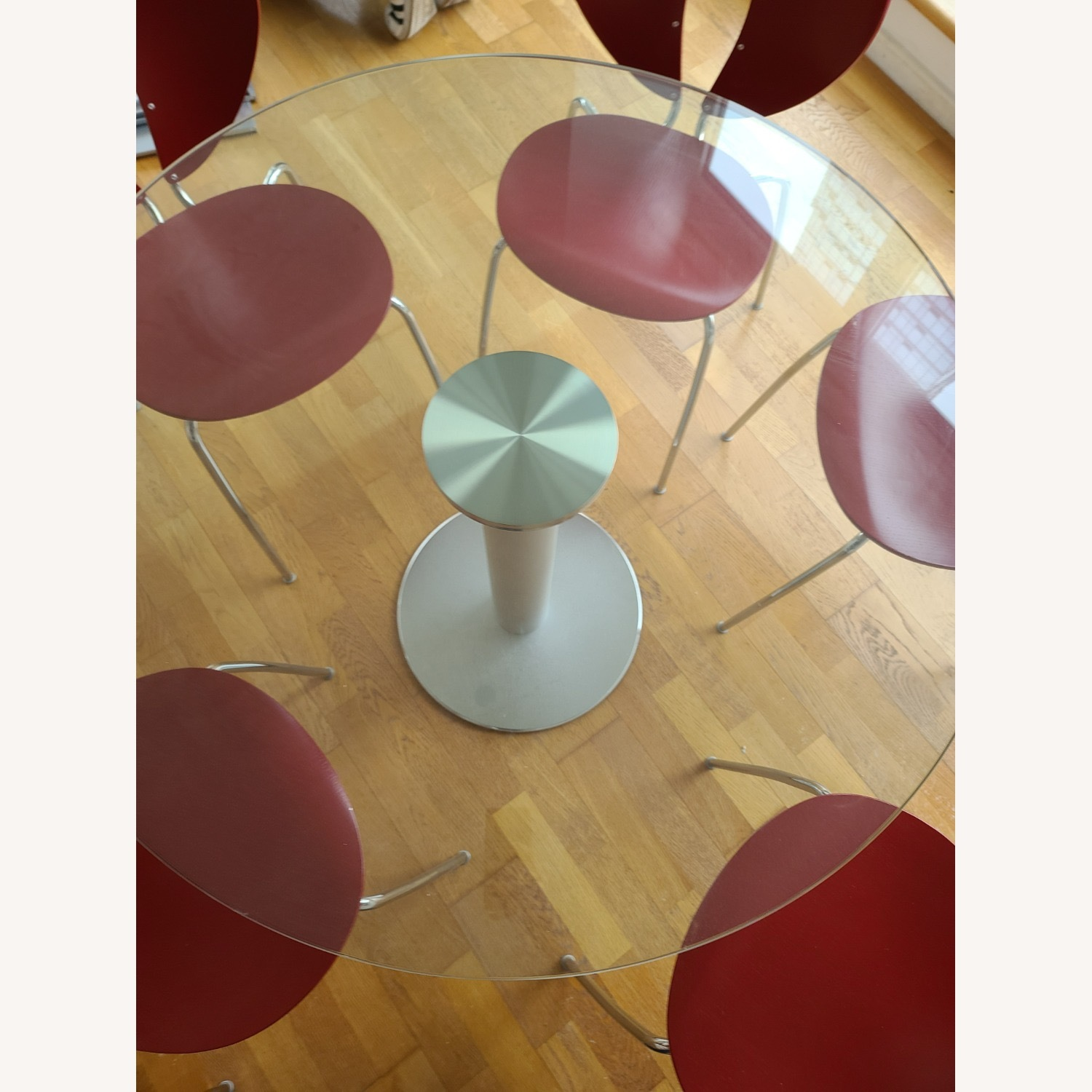 Design Within Reach Round Glass Table - image-2