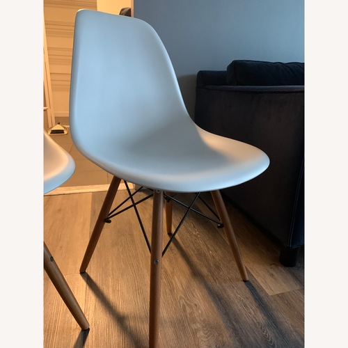 Used Houzz Eiffel Dining Room Chairs - Set of 2 (White) for sale on AptDeco