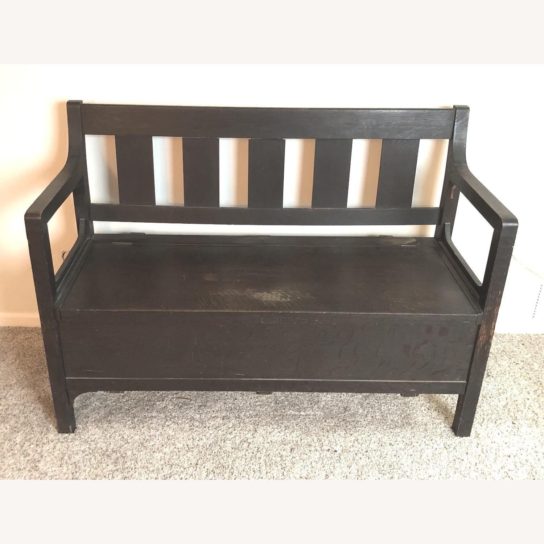 Wooden Bench with Hidden Storage - image-1