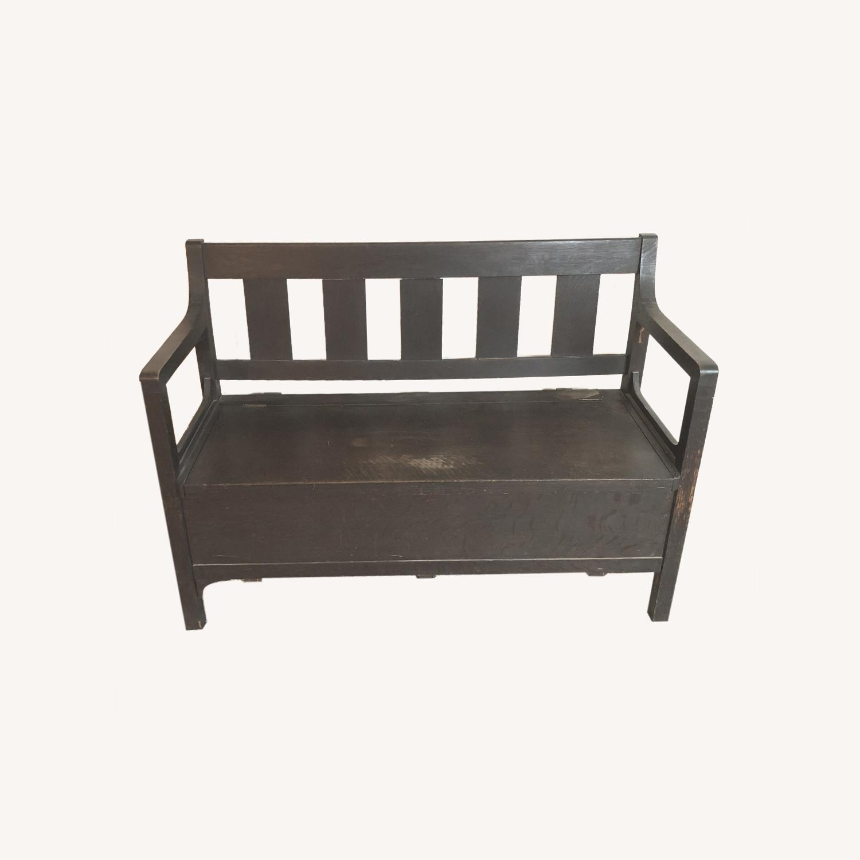 Wooden Bench with Hidden Storage - image-0