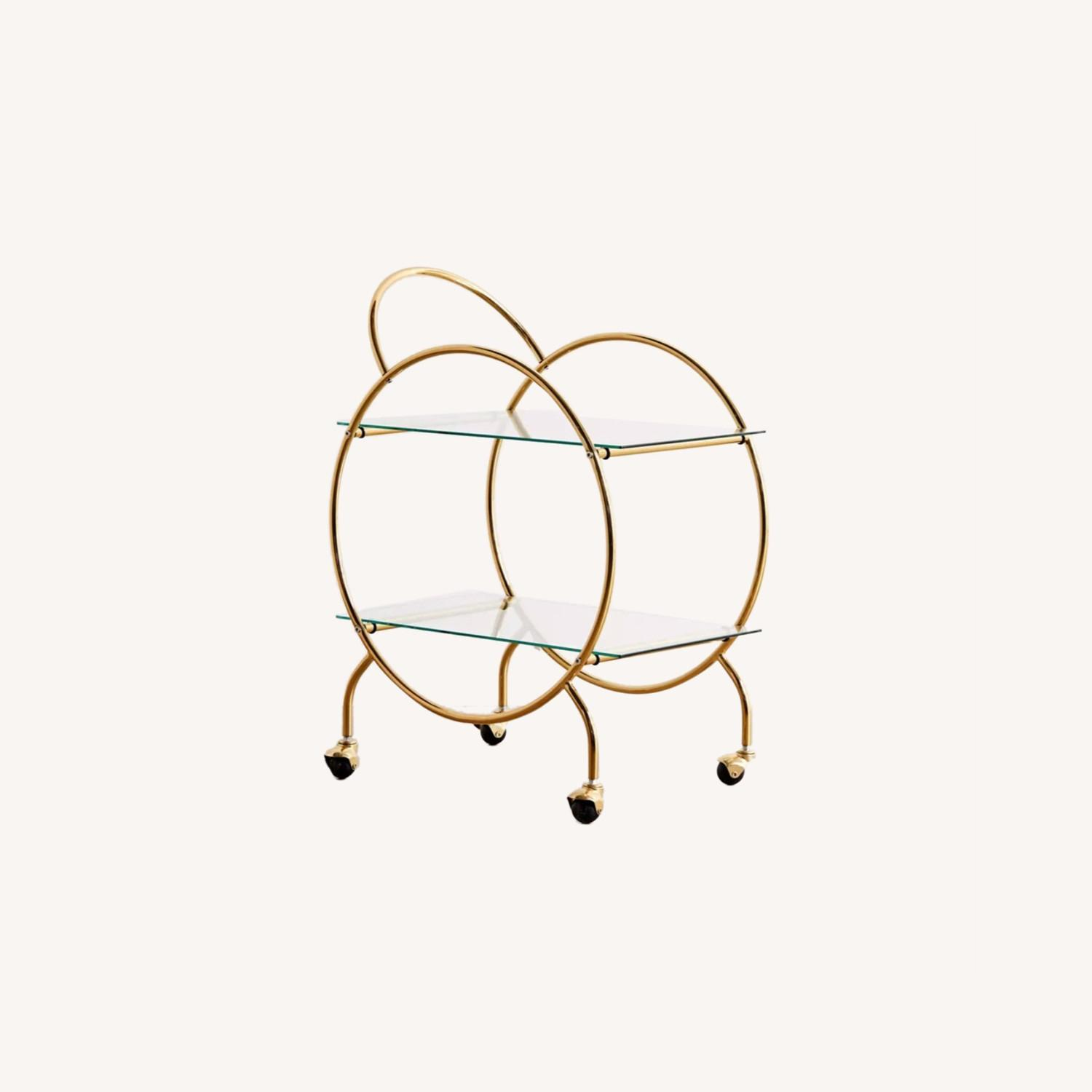 Urban Outfitters Gold Bar Cart - image-0