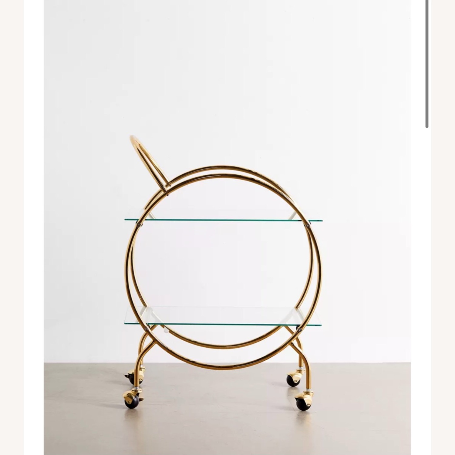 Urban Outfitters Gold Bar Cart - image-1