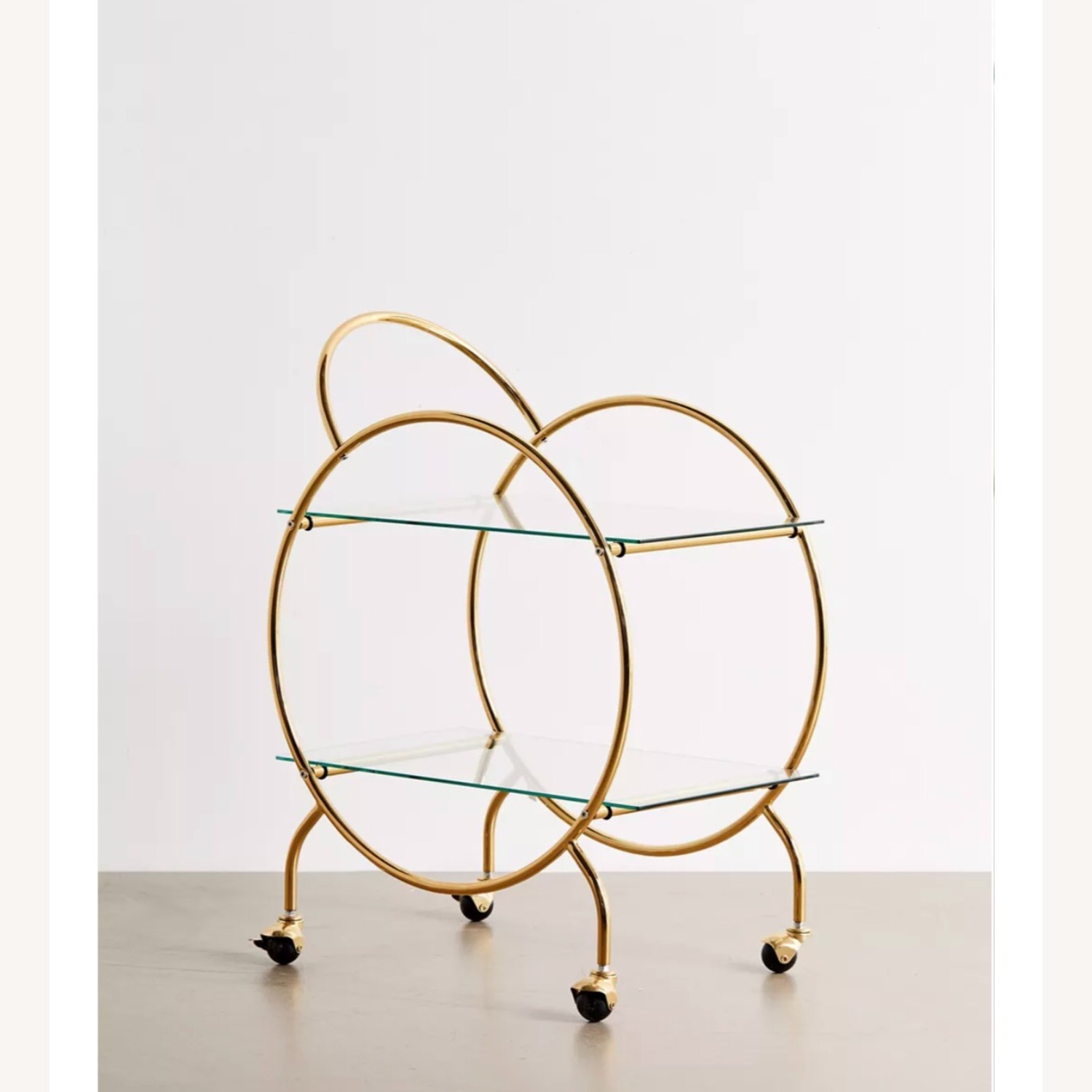 Urban Outfitters Gold Bar Cart - image-2