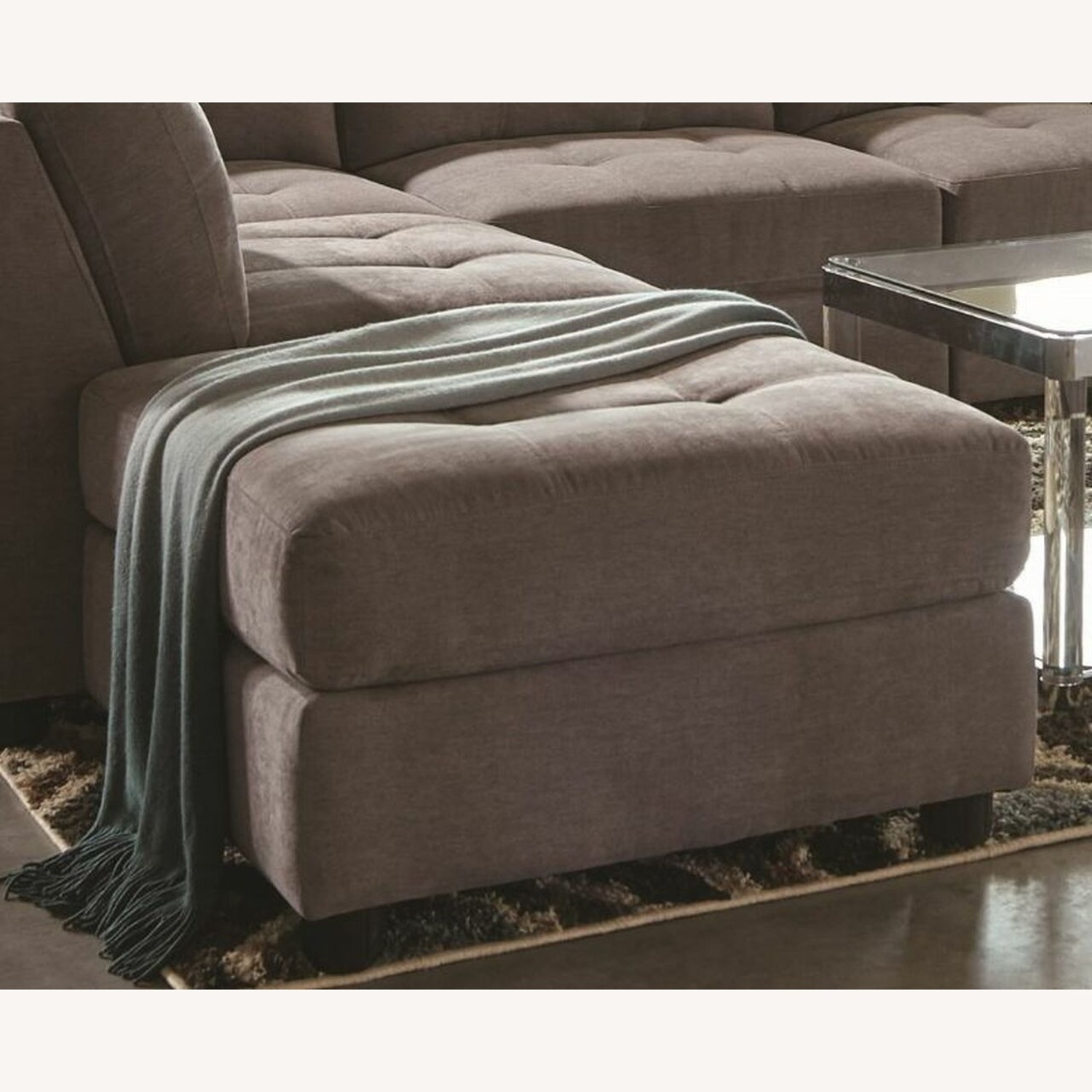 7-Piece Sectional In Dove Chenille Fabric - image-5