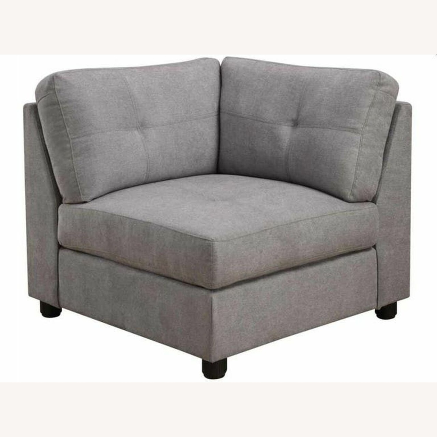 7-Piece Sectional In Dove Chenille Fabric - image-4
