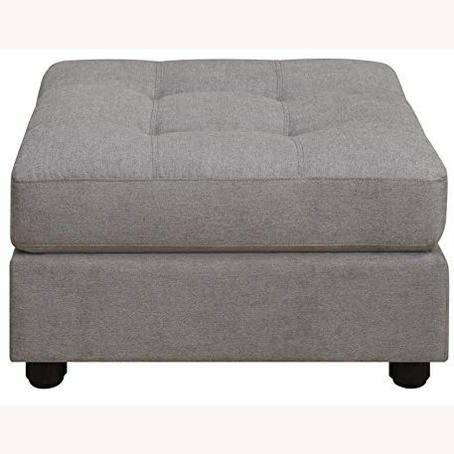 7-Piece Sectional In Dove Chenille Fabric - image-3