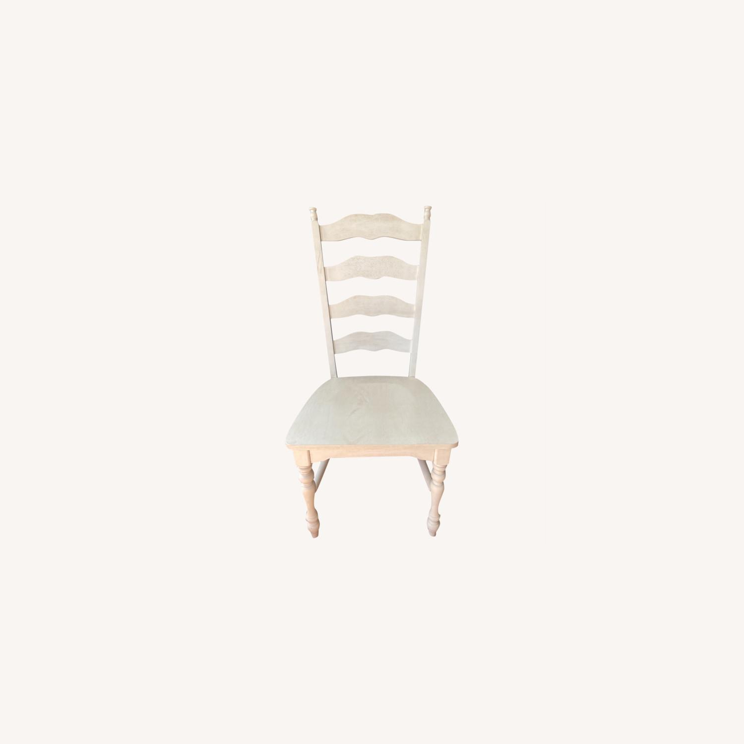 Whitewashed Ladderback Solid Wood Dining Chair - image-0