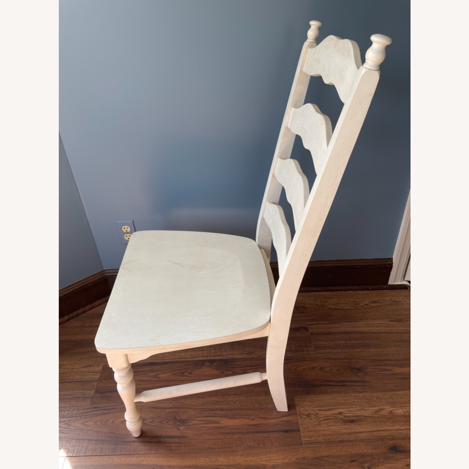 Whitewashed Ladderback Solid Wood Dining Chair - image-3