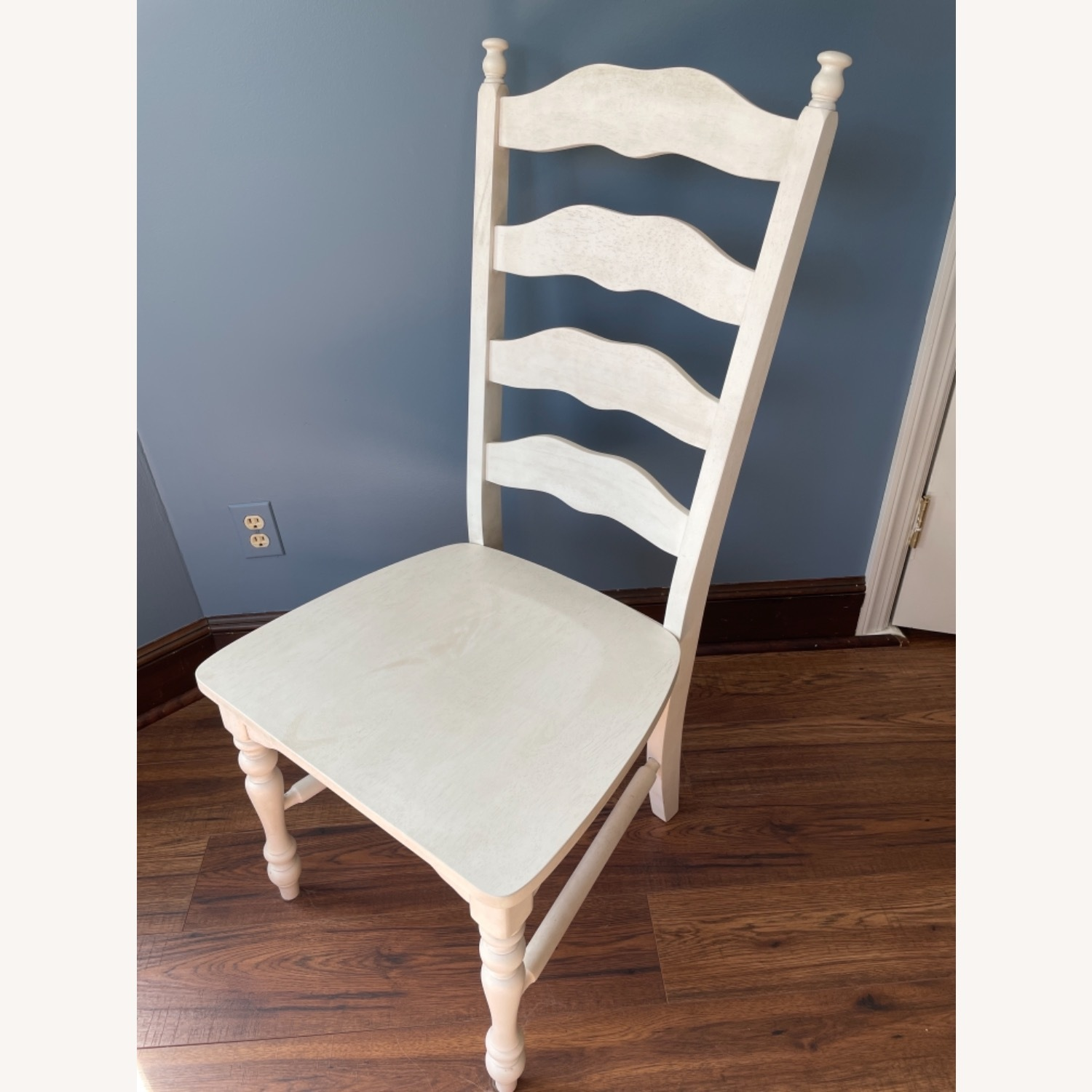 Whitewashed Ladderback Solid Wood Dining Chair - image-2