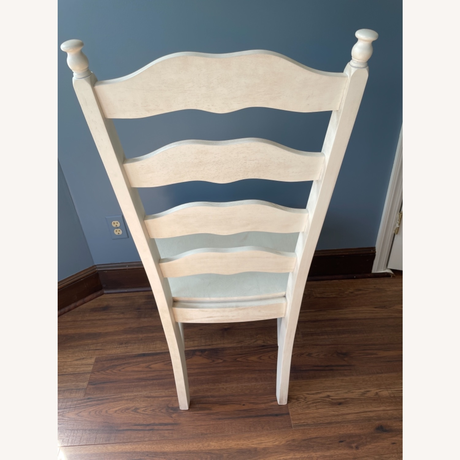 Whitewashed Ladderback Solid Wood Dining Chair - image-4