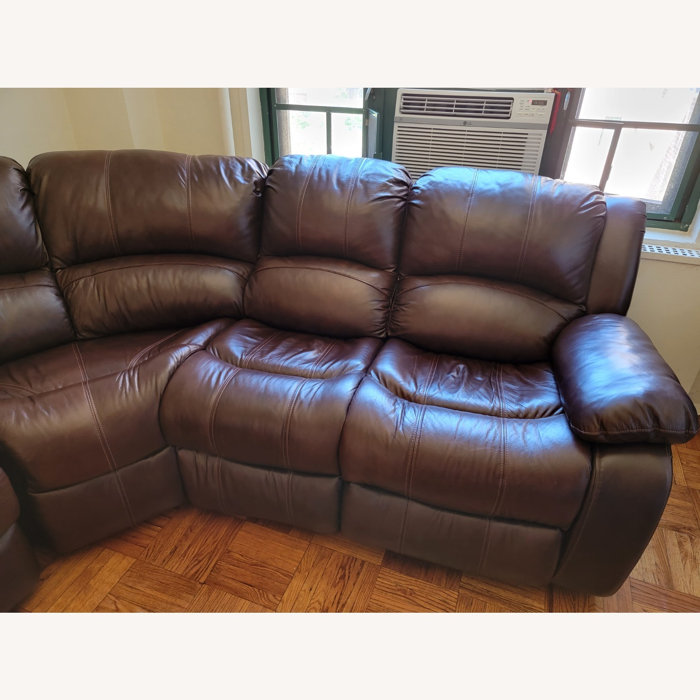 Raymour & Flanigan 6 Piece Reclining Sectional Sofa - image-8