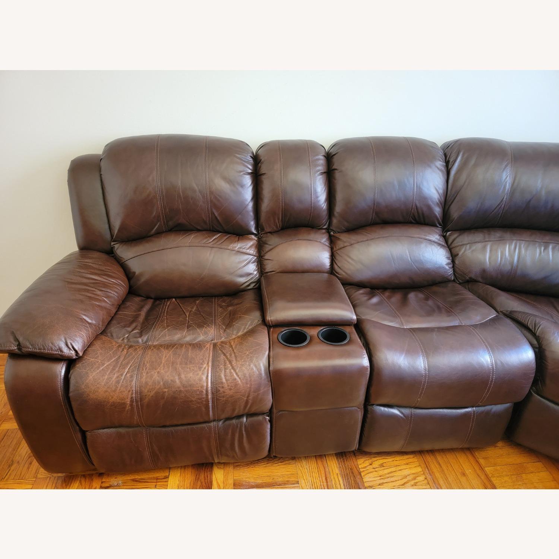 Raymour & Flanigan 6 Piece Reclining Sectional Sofa - image-7