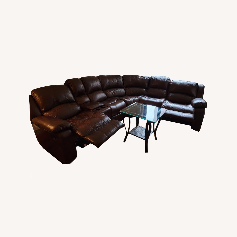Raymour & Flanigan 6 Piece Reclining Sectional Sofa - image-0