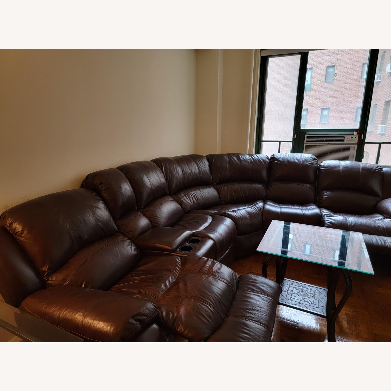 Raymour & Flanigan 6 Piece Reclining Sectional Sofa - image-5