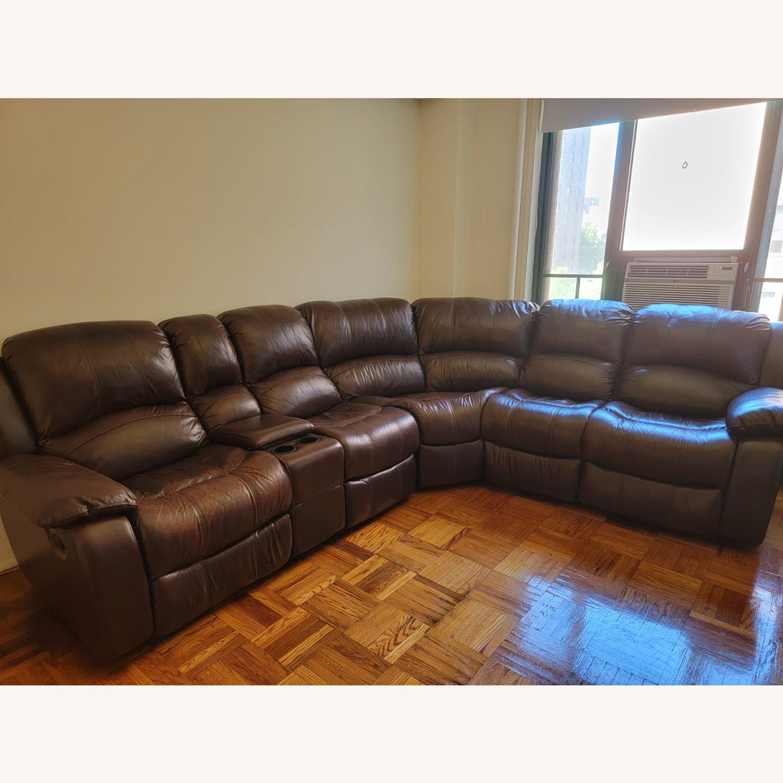 Raymour & Flanigan 6 Piece Reclining Sectional Sofa - image-6