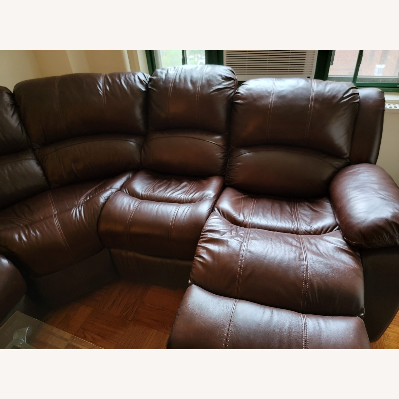 Raymour & Flanigan 6 Piece Reclining Sectional Sofa - image-3