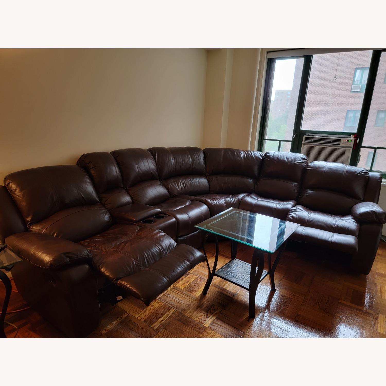 Raymour & Flanigan 6 Piece Reclining Sectional Sofa - image-1