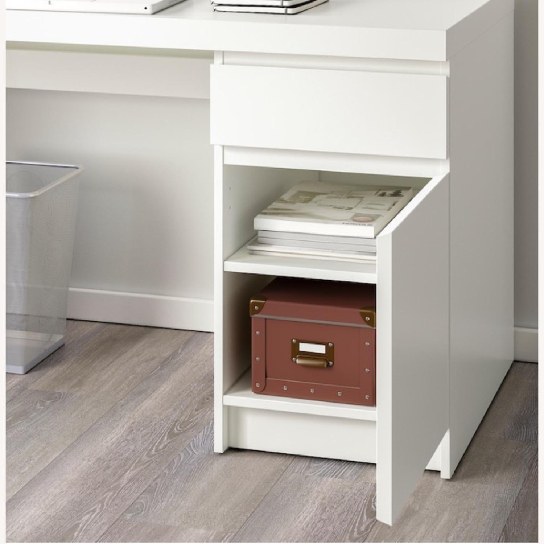 IKEA White Malm Desk - image-1