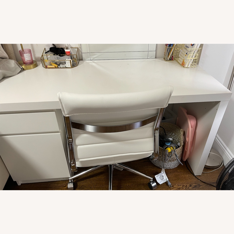 IKEA White Malm Desk - image-3