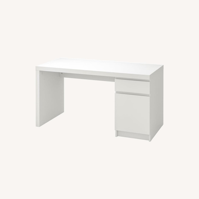 IKEA White Malm Desk - image-0