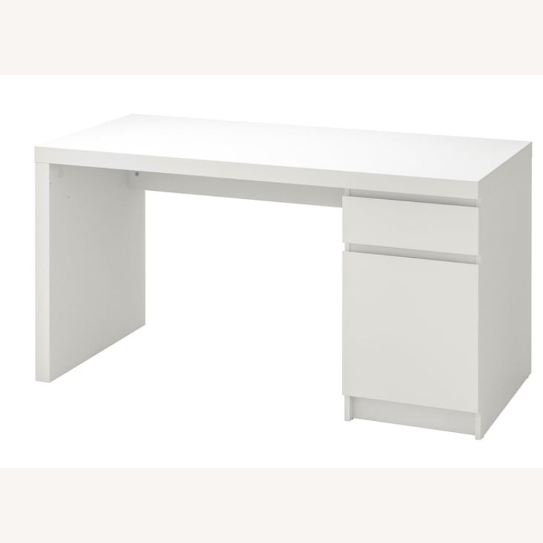 IKEA White Malm Desk - image-2