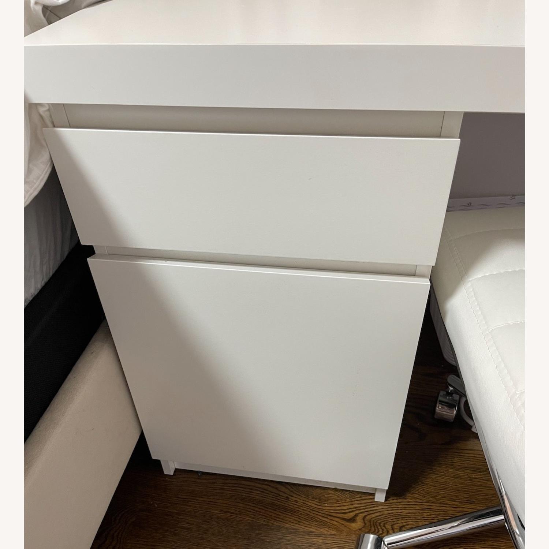 IKEA White Malm Desk - image-4